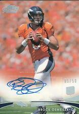 2012 Topps Prime Football #18 Brock Osweiler Auto Rookie Card RC 05/50