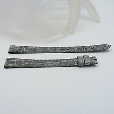 Jaeger LeCoultre Lederarmband grau ohne Schließe Ungetragen 13,8 mm (30)