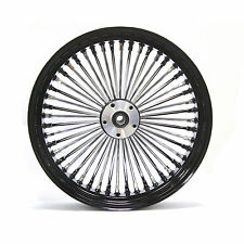 "FAT SPOKE 18"" REAR WHEEL BLACK 18 X 3.5 HARLEY FLHT ELECTRA GLIDE FLHTC ULTRA"
