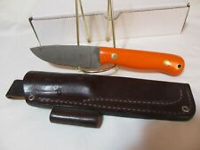"""Blind Horse Knife Called Brumby~~4"""" Blade~~Pre-Owned~~With Sheath~~Orange G-10"""