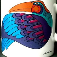 Laurel Burch Raven Coffee Mug Cup First Nations Pacific Northwest Large Japan