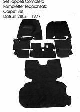 Fußmatten für Datsun 280Z Autoteppich Velour Schwarz Absatzschoner abgesteppt