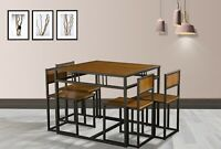 WestWood Compact Kitchen Dining Table and 4 Chairs Space Saving Set Home DS15
