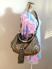 GUCCI Python Metallic Large Indy Tassel 2- Way Top Handle Shoulder Handbag