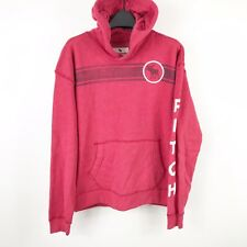Abercrombie Kids Boys Pullover Hooded Sweatshirt Hoodie Sz XL 15/16 Red White