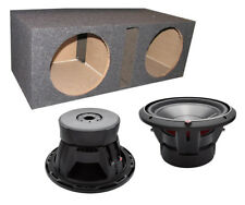 "2) ROCKFORD FOSGATE P3D2-12 12"" 2400 Watt 2-Ohm DVC Car Subwoofers + Sub Box"