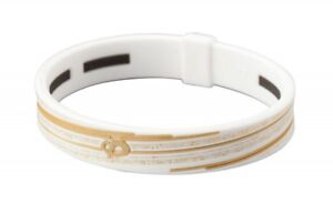 sale PHITEN Slashline Titanium Bracelet 17cm (6.7') White/Gold