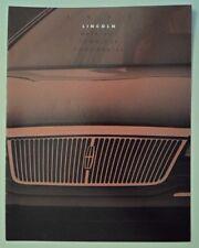 LINCOLN CONTINENTAL TOWN CAR & MARK VIII orig 1993 USA Mkt Sales Brochure