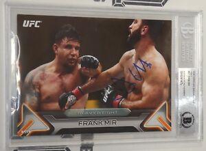 Frank Mir Signed UFC 2016 Topps Knockout 5x7 Gold Card BAS Beckett COA #/10 Auto