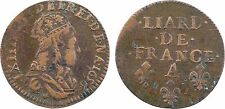 Louis XIV, liard, Corbeil 1656 - 104
