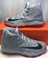 Nike Mens Size 7.5 Air Max Audacity 2016 PE Anthony Davis Grey Basketball  Shoes