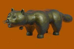 Animal Pet Feline Cat Signed Botero Bronze Statue Statuette FigurineHot Cast