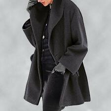 Women Shawl Collar Fleece Coat Elegant Blend Coats Long Coat Outerwear Jackets