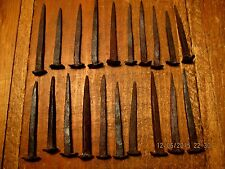 21 Vintage Forged Iron Rose Head Nails Period Nails Hardware Early Nail
