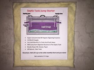 Septic Tank/System Booster Treatment 12 month supply