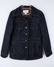 NINE WEST Jean Denim Jacket Quilted Lining  Womens' Size M/M