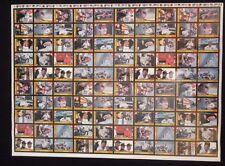 Davey Allison TRAKS NASCAR 1991 uncut Texaco Havoline team card sheet RARE