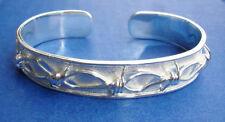 Western Silver Barbed Wire Cuff Bracelet