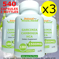 3x180  = 540 CAPSULES BULK Garcinia Cambogia Extract HCA Fast Weight Loss Diet