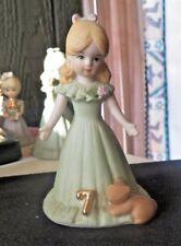 Beautiful Enesco Blonde Birthday 7 Growing Up Girl Figurine
