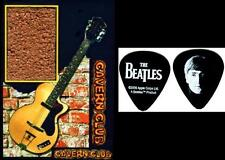 Beatles John Lennon Cavern Club Brick Display with Guitar Pick and Stand