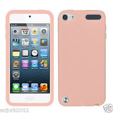 APPLE iPod Touch 5 / 6 SOFT SILICONE SKIN RUBBER GEL COVER CASE ACCESSORY PINK