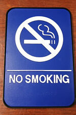 NO SMOKING Sign ADA Compliant Blue w/Braille +FRAME Public Accommodations Facili