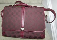 Tumi Ladies Purple/Burgundy Briefcase Laptop Bag Brand New