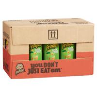Pringles Green Potato Chips Sour Cream and Onion 5.26 oz 14 count
