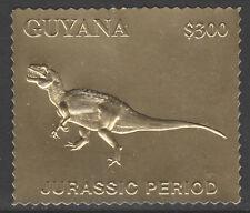 Guyana 6187 - 1994 JURASSIC PARK DINOSAUR  embossed in GOLD FOIL