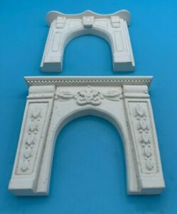 DOLLS' HOUSE MINIATURES - TWO X PLASTER? FIRE SURROUNDS - 12th SCALE