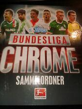 Topps Bundesliga Chrome 2013 2014 Sammelmappe mit 119 Sammelkarten Trading Cards
