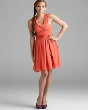 NWOT $158 BCBGeneration Burnt Orange Ruched Cocktail Party Dress Size 0,2