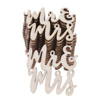 15Pcs Wooden Mr&Mrs Table Confetti Scatter Vintage Rustic Wedding Party Decor EP