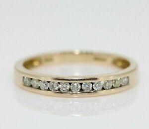 9ct Yellow Gold 0.25ct Diamond Eternity Ring Size M, US 6 1/4