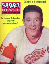 1960 Oct. Sport Revue, Hockey, magazine, Marcel Pronovost, Detroit Red Wings ~Gd