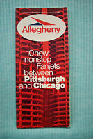 Allegheny Air - Timetable - August 1, 1969