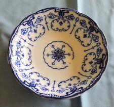 """New Wharf Pottery Conway Pattern Flow Blue 9"""" Serving Bowl - C2875"""