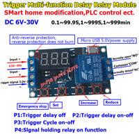 USB LED Display DC 9V-24V 12V Relay Switch Module Trigger Time Delay Cycle Timer
