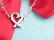"Tiffany & Co Silver Picasso Loving Heart Bracelet 7"""