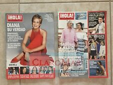 ☀Lot 2 Hola! Magazines Agosto 2017 Revista España Princesa Princess Diana Harry