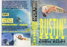 SURFING BUSTIN OUT SURF FILM BY CHRIS KLOPF VHS VIDEO PAL A RARE FIND