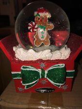 Christopher Radko Gingerbread Snow Globe Musical Jingle Bells