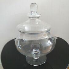 vintage squat decorative clear glass jar sweet jar wedding party jar home decor