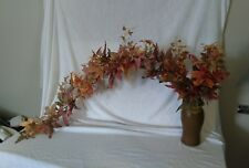 """68"""" long Frosted Autumn/Fall Maple Bush X 13 wired bendable stems -  152 leaves"""