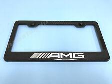 1x ///AMG Real 3K TwillWeave CARBON FIBER License Plate Frame Holder (NEW Style)