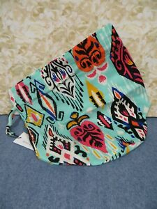 Vera Bradley Pueblo Ditty Bag #15862-K02 Mint Green Multi - New w/Tag