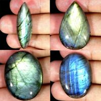 Natural Labradorite Oval Pear Cushion Cabochon Loose Gemstone Collection