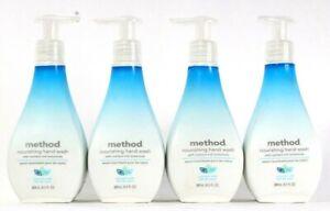 4 Bottles Method 9.5 Oz Coconut Milk Rich Botanicals Nourishing Hand Wash