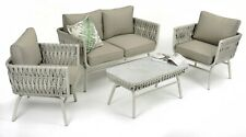 Outdoor4 pce Lounge set Aluminium with Thick SOFT TUBE WICKER features